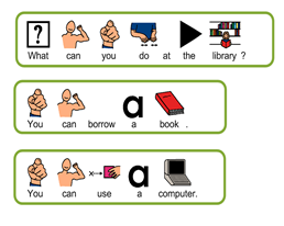 An example of PECS symbols used in Boardmaker