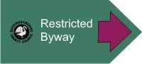 Restricted Byway sign