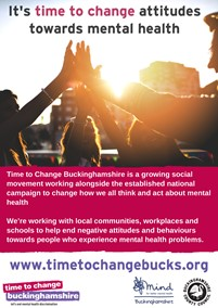 thumbnail of the time to change flyer, showing hands raised together